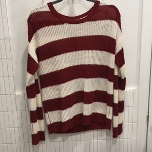 Sweater with buttons down back